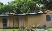 Saturday morning, a look at a home that had its roof  blown off during strong winds from Friday's Tropical Storm Gita. Samoa News observed several homes in Nu'uuli along the main road, had roofs blown off by strong winds. Similar reports were coming from other villages on Tutuila. [photo: Fili Sagapolutele]