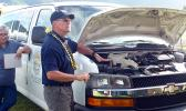 US based engineer and instructor, Dennis Fisher,as he explained what needed to be done every day to SLP vehicles before drivers head out for their deliveries.