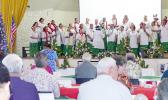DHSS choir at Lee Auditorium during cabinet meeting