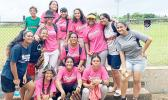 Some of the Diamond Teen Girls Softball participants