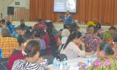 "This Samoa News photo taken yesterday shows public educators during the second day of the two-day ""Professional Learning Community at Work"""