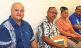 Health Department senior officials [l-r] Dr. Aifili John Tufa, Papali'i Marion Fitisemanu, Farah Utu, and Dr. Saipale Fuimaono