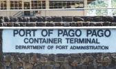 Entrance to the main wharf at Fagatogo