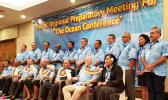 Leaders from around the Pacific met in Fiji on Friday ahead of an international oceans conference in June. [Photo: Supplied / Government of French Polynesia]