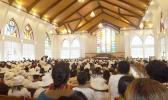 Interior of the new church temple. [Photo: Tipi Autagavaia / RNZI]