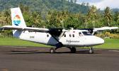 A Polynesian Airlines Twin Otter aircraft at Fagali'i Airport in Upolu, Samoa. [Photo: Alan Lebeda]