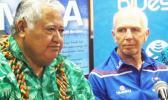 Samoa prime minister Tuilaepa Aiono Sailele Malielegaoi and Sir Gordon Tietjens. [Photo: RNZI/Autagavaia Tipi Autagavaia]