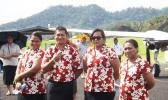 Talofa Airways staff at the launch of the airline [Photo: RNZI/Autagavaia Tipi Autagavaia]