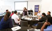 Dr Rebecca Levine running a workshop on a new mosquito app [Photo: US Consulate Auckland]
