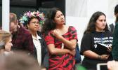 Pacific Islanders at New Zealand climate demonstration