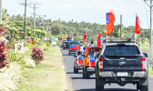 Convoy of cars for demonstration against judiciary.