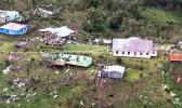 A wrecked village on one of Fiji's southern islands