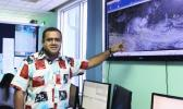 Misaeli Funaki during media briefing at Nadi Weather Office