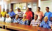 Fiame Naomi Mataafa and representatives of Ti'avea Village