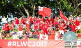 Tongan league fans show their support. [Photo: NRL Photos]