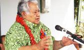 In this RNZI file photo, Samoan Prime Minister Tuila'epa Sa'ilele Malielegaoi speaks at the launching of the new Talofa Airways at Fagalii airport on August 22 2016 [Photo: RNZI/Autagavaia Tipi Autagavaia]