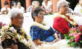 Deputy PM Fiame Naomi Mataafa, Minister of Women, Community and Social Development, Faimalotoa Kika Stowers, and Sister Vitolia Mo'a, Advocate and Academic.