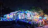 Emma Eteru and family home decorated with Christmas lights