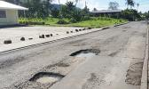 Potholes on the Fagaima road