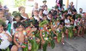 Several students and teachers of the Fatuoaiga Montessori