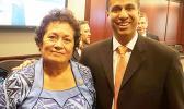 Congresswoman Aumua Amata with FCC Chairman Ajit Pai.