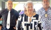 Prime Minister Fiame Naomi Mataafa with Deputy Prime Minister Tuala Iosefo Ponifasio