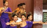 Performers providing entertainment at the National University of Samoa