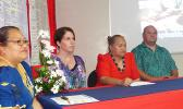 Dr. Tamara Buhagair (second from left) of the Centers for Disease Control (CDC) and some officials with the ASG Health Department