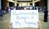 "Sign at the Papahanaumokuakea fishing Means Food rally.  It says, ""Papahanaumokuakea Birthplace of My Kupuna"""