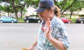 Fletcher outside the Prince Kuhio Federal Building in Honolulu during his interview with Hawaii News Now. [photo: Chelsea Davis]