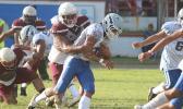 Samoana's ball carrier Johnny Fano