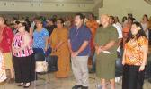 A look at part of the crowd standing at the conclusion of last Thursday evening's gubernatorial forum hosted by the American Samoa Bar Association.  [photo: FS]