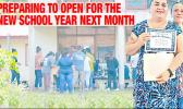 Parents enrolling students and teachers with certificates