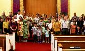 Participants at Samoan Protestant Service's first official service
