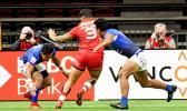 Canadian Samoan, Mike Fuailefau scores Canada's first try