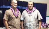 Lt. Governor Talauega, pictured here with Gov. Lemanu