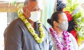 Gov. Lemanu Peleti Palepoi Sialega Mauga and FIRST LADY ELLA PEREFOTI MAUGA
