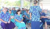 Public school principals, vice principals, administrators and officials singing a hymn