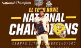 Sons of American Samoa helped GCCC to their 1st conference title – Keiki Misipeka, Jamie Tago, Tama Toa Edward Manase — it's the start of more opportunities due to three locals making a name for themselves in the US Junior college program. Tago, pictured here, has since been accepted to the UH football program.  [Courtesy photo]