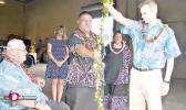 Hawaiian blessing ceremony.