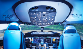 A CAE Boeing 787-9 full-flight simulator
