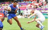 Samoa's Tila Mealoi eyes the try line