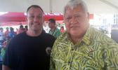 Hawaii Lieutenant Governor Josh Green, (left), with Samoa PM Tuilaepa Sailele Malielegaoi