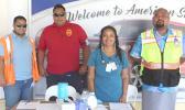 Customs Agent Elama Tupufia Lefiti, Health Inspector Tasi Toalima, Dr. Pushpa K.Yadav, and Quarantine Inspector Tuamaalo  Seuma'ala of the Agricultural Department