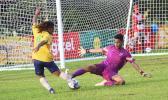 American Samoa goalkeeper Hengihengi Ikuvalu