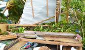 A home on Tutuila destroyed during Tropical Storm Gita.