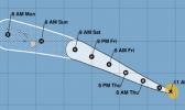 Track of Hurricane Douglas as of Thurs morning