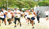 Participants in  SPW's 4th Annual Freedom Run & Obstacle Course.