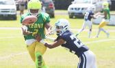 Leone Lions wide receiver Antwan Legget