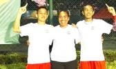 Three Team Tennis American Samoa players